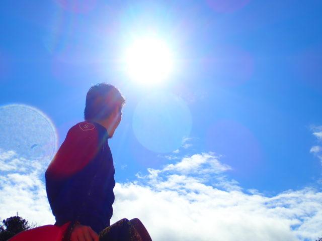 強い日差しの写真