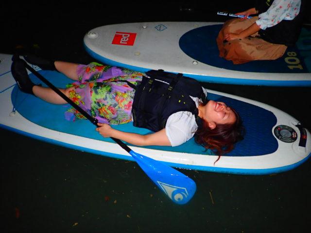 石垣島 夜 ナイト SUP サップ 画像