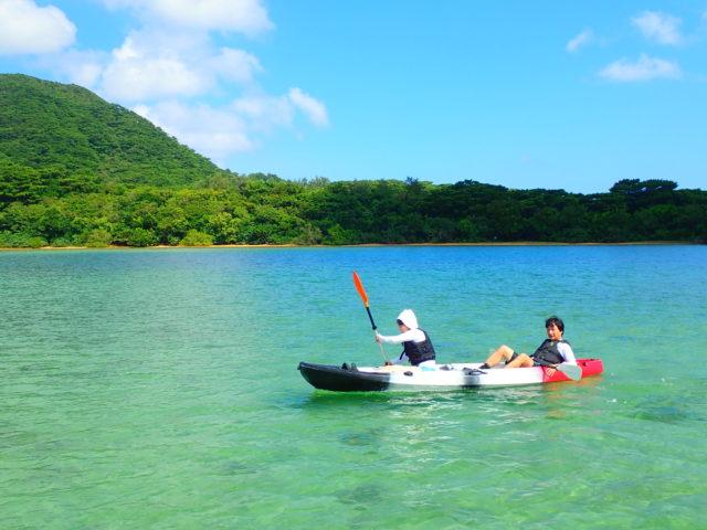 川平湾 カヌー カヤック 画像
