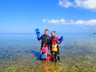 石垣島の遠浅の海 写真